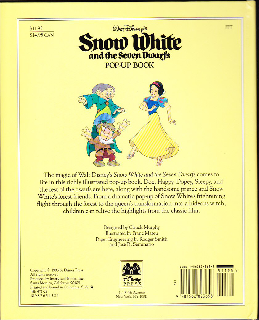 Filmic Light Snow White Archive 1993 Snow White Pop Up Book