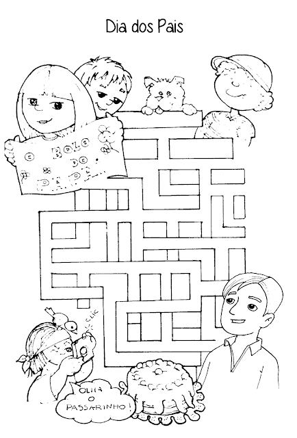 Atividades para Educação Infantil do Dia dos Pais para imprimir