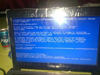 حل مشكلة ظهور الشاشة الزرقاء