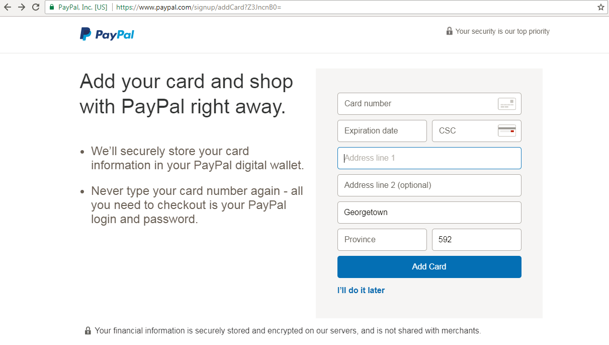 Computers in Guyana: Create your PayPal account  It's free
