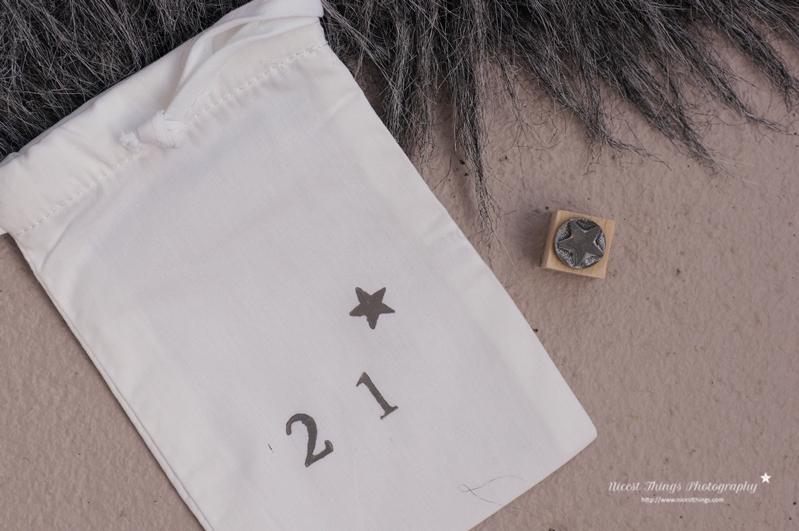 DIY Adventskalender Säckchen bestempeln