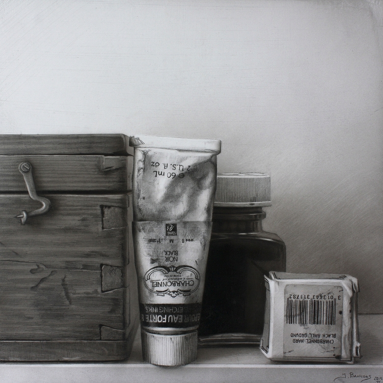 16-Tools-Javier-Banegas-Black-and-White-Realistic-Mixed-Media-Drawings-www-designstack-co