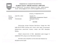 Pengadaan Calon Tenaga Non PNS BLUD RSUD Limpung Kabupaten Batang Tahun 2018