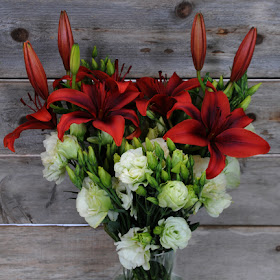lisianthus and Black Out Lilies