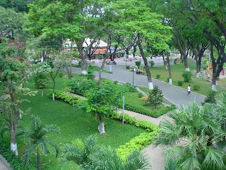 Hoang Van Thu Park. Ho Chi Minh Stadt (Vietnam)