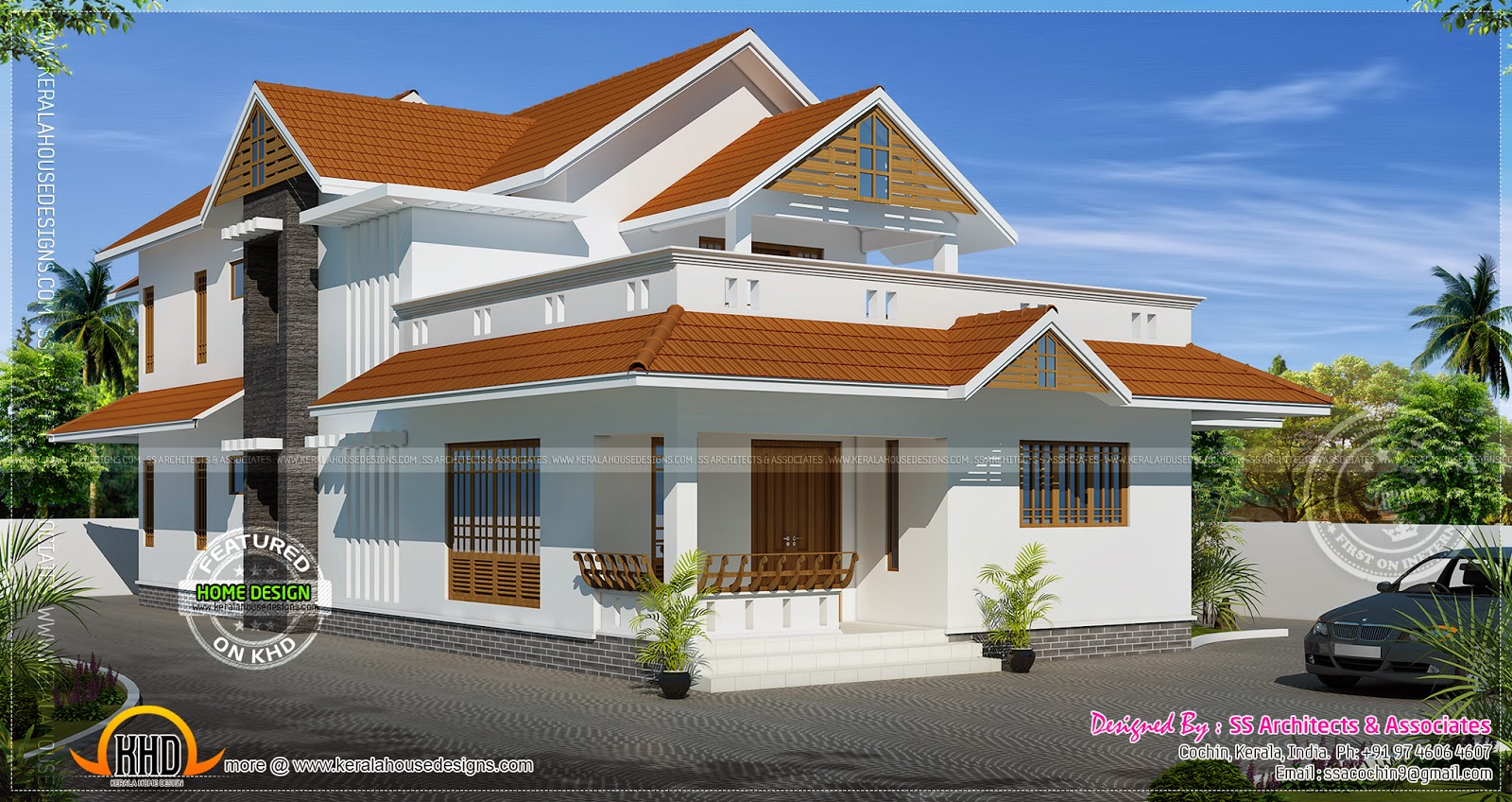 Kerala traditional home in 267 square yards kerala home for Kerala traditional home plans with photos