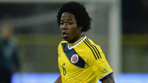 Cầu thủ Sanchez trong màu áo ĐT Colombia