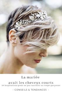 inspirations et conseils de coiffures pour les mariées aux cheveux courts blog mariage unjourmonprinceviendra26.com