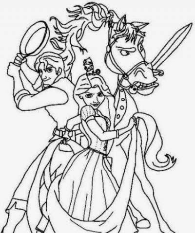 Rapunzel And Flynn Coloring Pages
