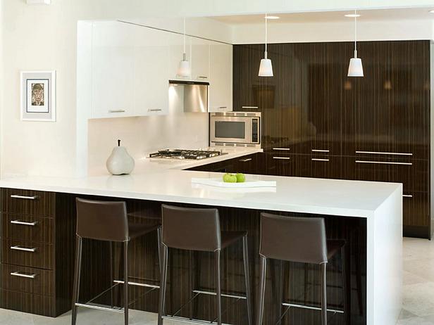 modern contemporary kitchen brown