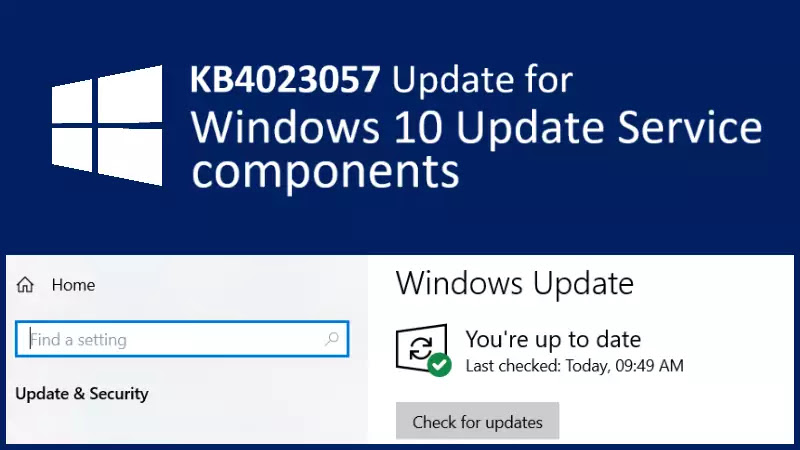 Windows 10 new patch (KB4023057) starts rolling out with reliability and security improvements