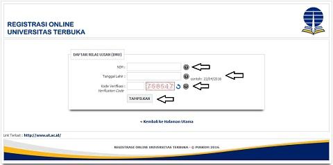 Melihat dan Mengecek Nilai Mata Kuliah / Daftar Nilai Ujian UT di www.ut.ac.id