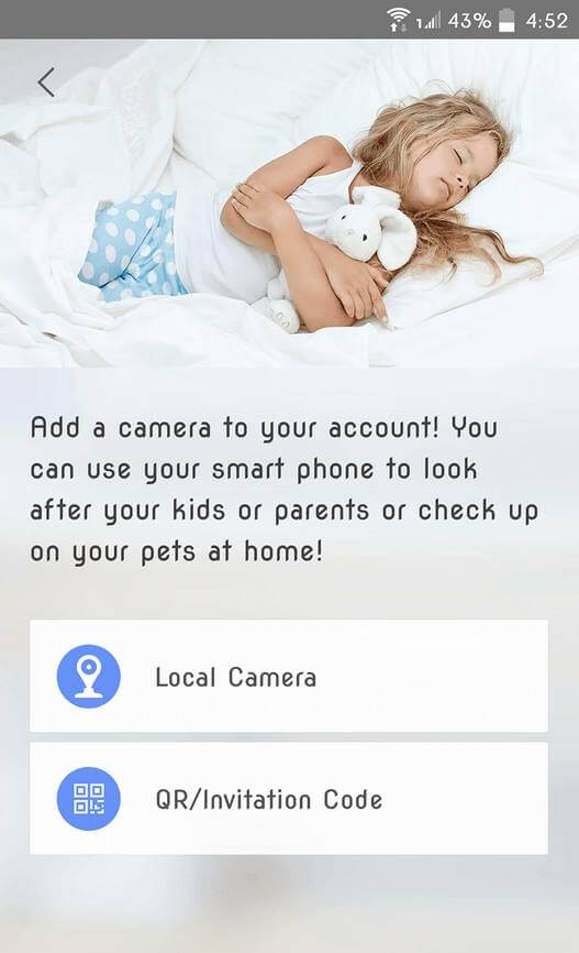 Adding a camera through the Qihoo 360 app is as easy as 1-2-3