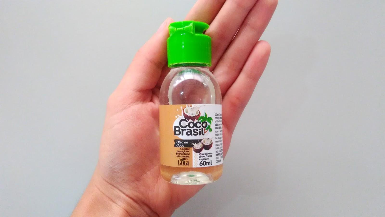 óleo de coco coco brasil gota dourada