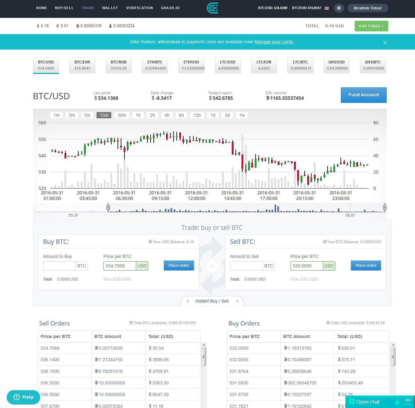 كيفية شراء وبيع البتكوين باستخدام الفيزا , شراء البتكوين, بيع البتكوين, موقع Cex.io, Buy and Sell Bitcoin