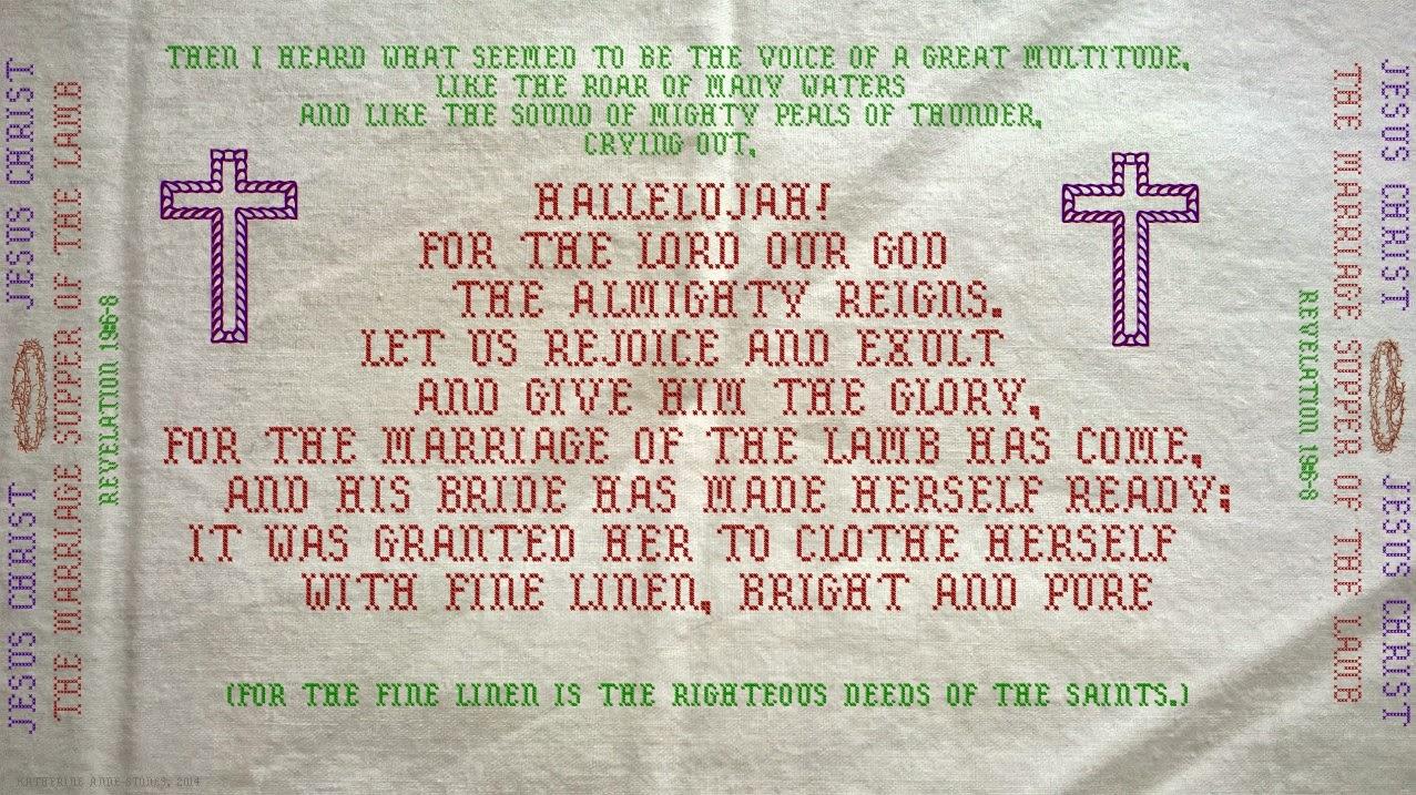 Pebbles For Christ: Revelation 19:6-8