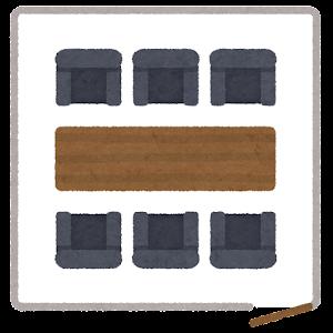 会議室の席のイラスト2(席次)