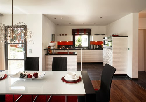 cocina y comedor mismo ambiente