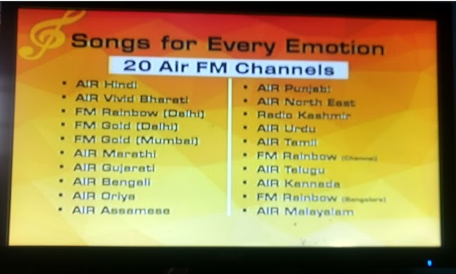 5 TV Channels and 20 Radio Channels temp. freetoair from Videocon D2H from ST-2 satellite @ 88° E