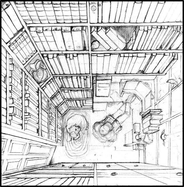 My Fantasy Library sketch