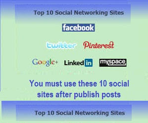 Top 10 Social Networks Must Use After Publish Your Post
