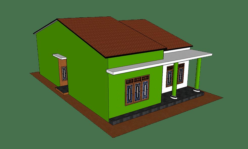 Tampilan ISO rumah gaya klasik modern 1 lantai