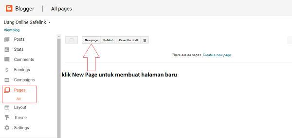 Cara Membuat Blog Safelink di Blogger