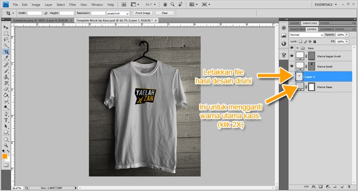 Cara Membuat Desain Kaos Seperti Nyata Menggunakan Photoshop