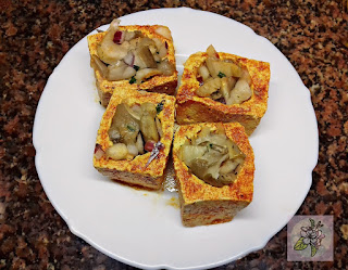 Tofu Relleno al Estilo Chino. Preparación.