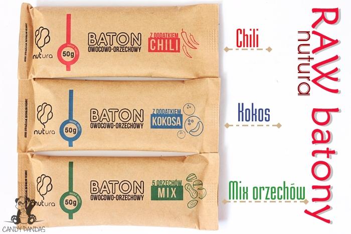 Batony owocowo-orzechowe kokos/chili/mix orzechów - Nutura