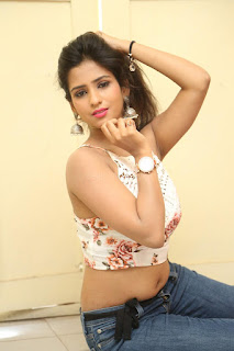 Deekshita Parvathi in a short crop top and Denim Jeans Spicy Pics Beautiful Actress Deekshita Parvathi January 2017 CelebxNext (210).JPG