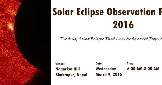 Solar Eclipse Observed from Nagarkot, Nepal!