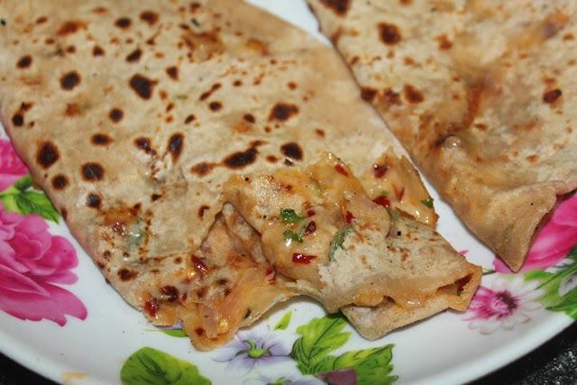 Cheese Paratha Recipe - Stuffed Cheese Paratha Recipe