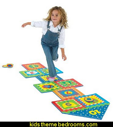 ALEX Toys Active Play Hopscotch  playrooms alphabet numbers decorating ideas - educational fun learning letters & numbers decor - abc 123 theme bedroom ideas - Alphabet room decor - Numbers room decor - Creative playrooms educational children bedrooms - Alphabet Nursery - Alphabet Wall Letters - primary color bedroom ideas - boys costumes - girls costumes pretend play - fun playroom furniture