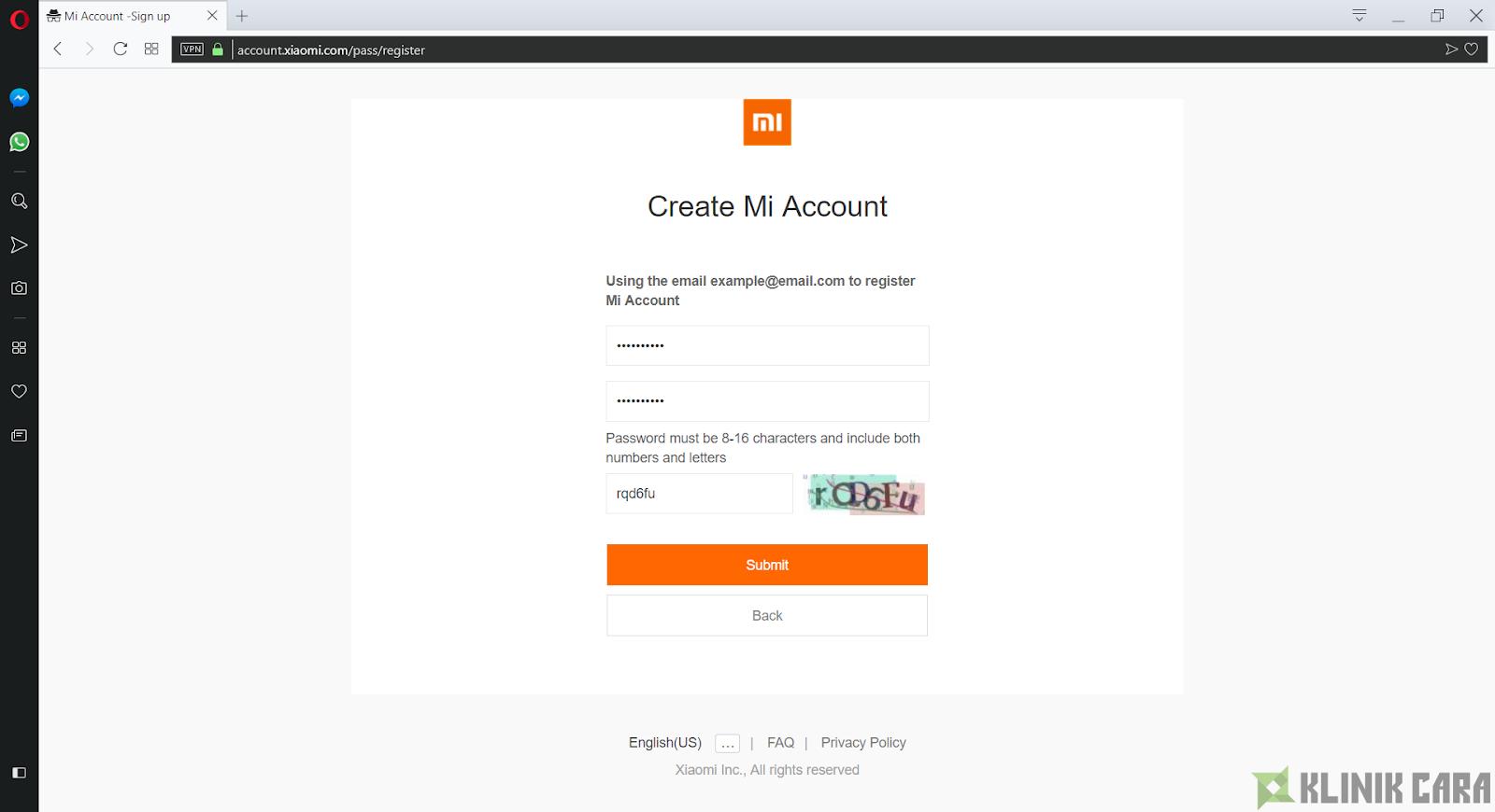 Cara Membuat Mi Account Xiaomi dengan mudah