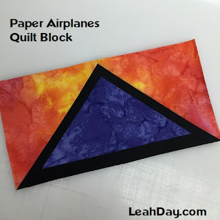 Paper Airplanes Easy Paper Pieced Quilt Pattern at LeahDay.com