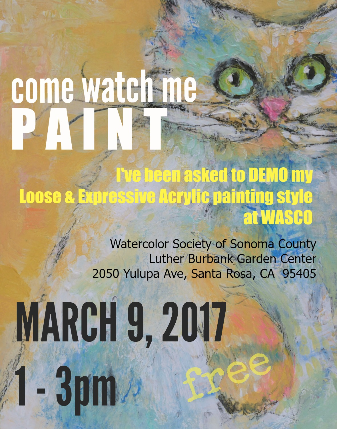 I am delighted that WASCO has invited me to demo at their monthly meeting in March. Come One, Come All. FREE!