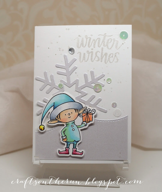 christmas cards, simon says stamps, mft Santa's elves, copic markers