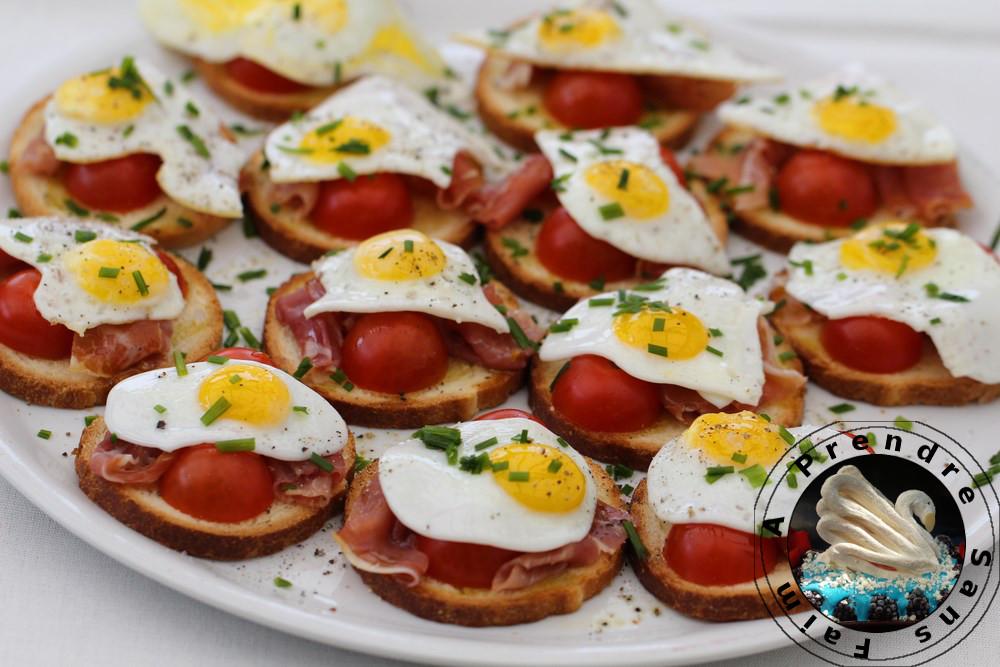 Bouchées jambon œufs de caille
