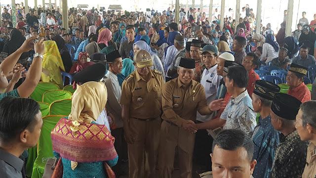 Ribuan Masyarakat Selapan, Sambut H Iskandar SE