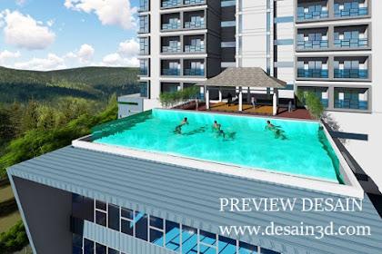 Jasa gambar online desain kolam renang hotel mewah murah berpengalaman