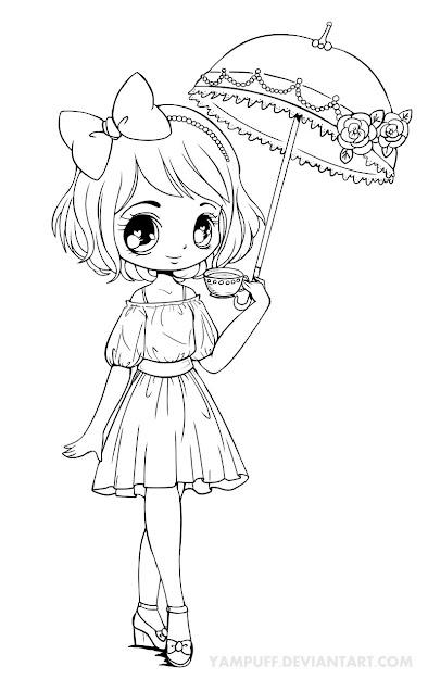 Chibi Girl Line Art Related Keywords  Suggestions  Chibi Girl Line