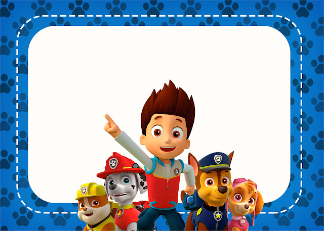 Paw Patrol Free Printable Invitations Labels Or Cards