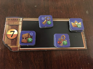 Clank! The Mummy's Curse Expansion Market Board and Ankh