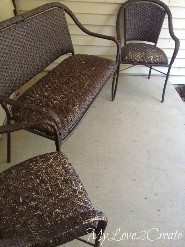 MyLove2Create, Wicker Furniture Makeover