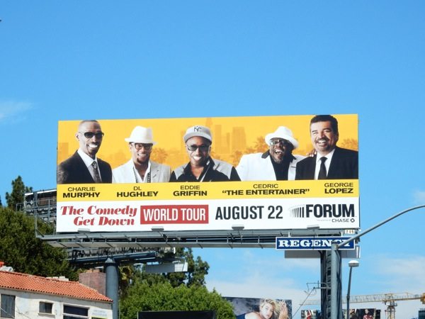 Comedy Get Down World Tour billboard
