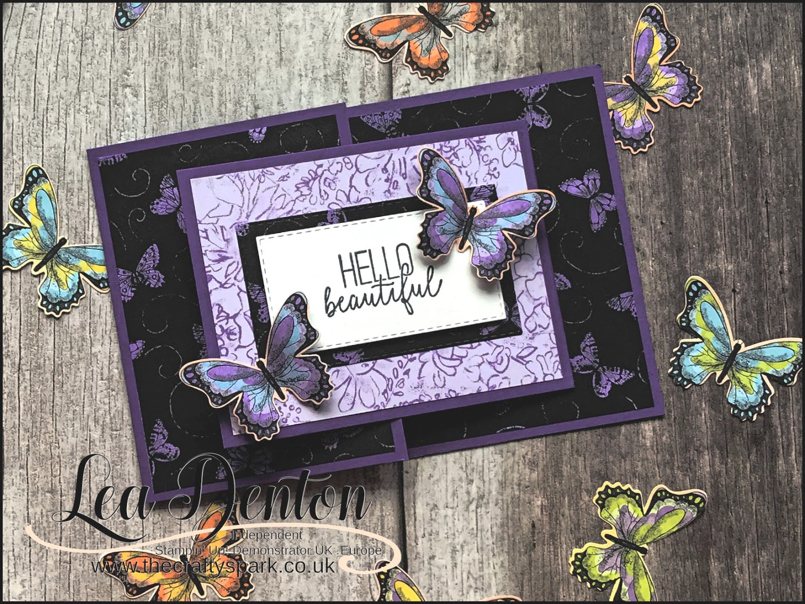 Stampin' Up! Botanical Butterfly Joy Fold Fancy Fold Card