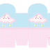 Lluvia de Bendiciones en Rosa y Celeste: Cajas para Imprimir Gratis e Imprimibles Gratis para Fiestas.