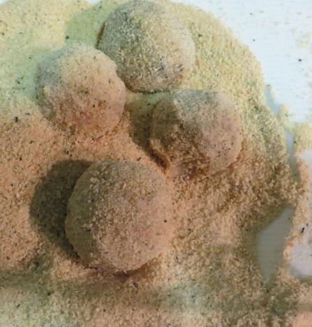 olivas rebozadas crujientes en la cocina de la abuela