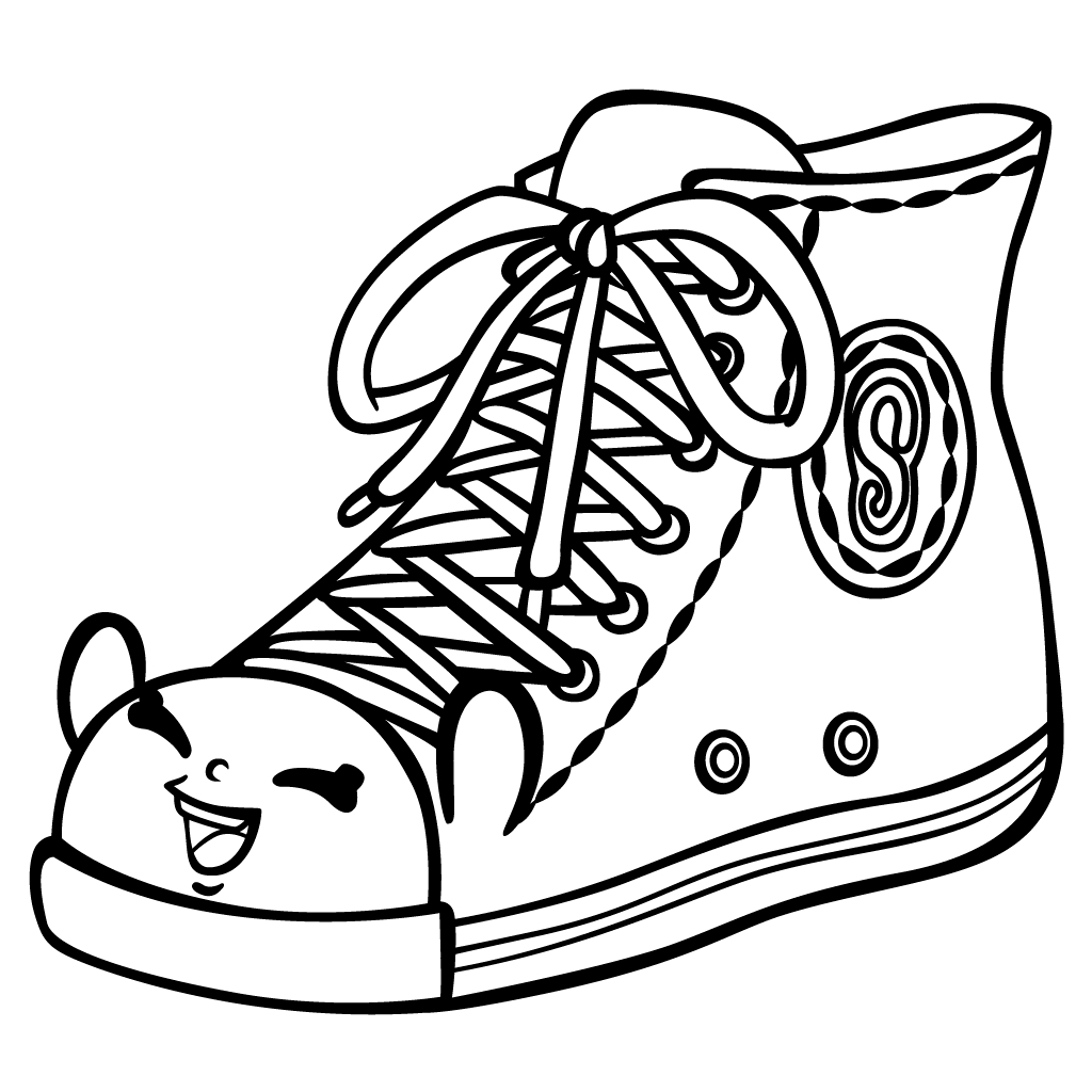 Click to see printable version of Shoe Shopkin Coloring page